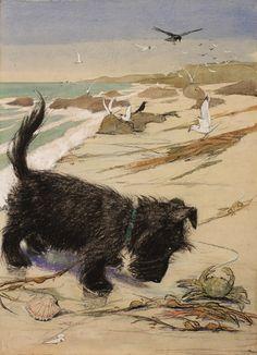"Seashore original by Muriel Dawson"" English, circa 1935"