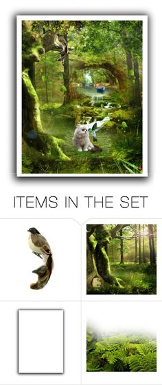 """""""Cat-bird kiss"""" by lolalevjesrcna ❤ liked on Polyvore featuring art and cute"""