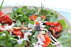 Roasted Tomatoes and Pine Nuts Salad