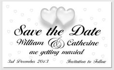 50 Designer Save the Date magnets. Just email your names and wedding date and we personalise them for you. Envelopes included., http://www.amazon.co.uk/dp/B00765PYAI/ref=cm_sw_r_pi_awdl_-PHBtb0QQ1KP0