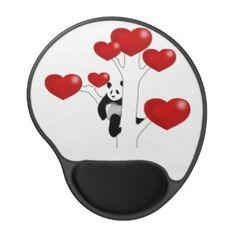 Panda Love Gel Mouse Pads