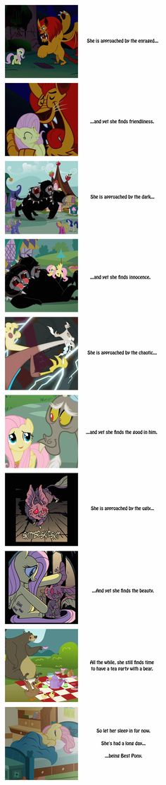 Fluttershy is Good With Everyone (Why she's my favorite)
