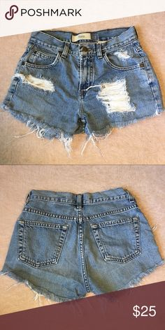 Distressed GAP Vintage High Waisted Shorts Super cute distressed high waisted shorts from GAP. In great condition. GAP Pants