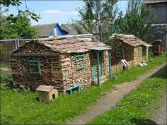 fake tiny houses you can burn - cool :)