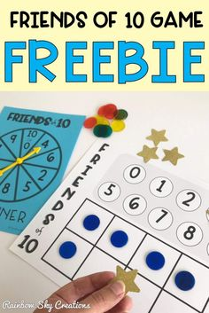 This FREE 'Friends to game helps consolidate addition skills and develop fluency and a solid understanding about number combinations that add to (Rainbow Facts, Friends of Number bonds of A free Math board game for Year 1 and Year 2 (Grade Grade Teaching Addition, Addition Games, Addition And Subtraction, Learning Resources, Teaching Tools, Teaching Math, Teaching Ideas, First Grade Activities, Hands On Activities