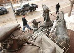 Red Deer: Ghost Statues Helping Keep History Alive. Cast in bronze, the city's collection of 10 Ghost statues mingle with citizens on sidewalks and parks to tell their Red Deer story. Red Deer, Sidewalks, Statues, Parks, It Cast, Bronze, History, City, Collection
