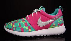Nike Roshe Run GS - Vivid Pink - Metallic Silver - Hyper Jade - SneakerNews.com