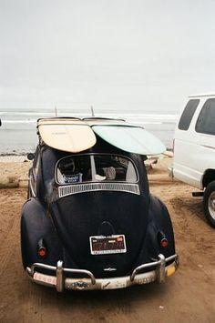 Old cars volkswagen vw bus 43 ideas Vw Bus, Vw Camper, Car Volkswagen, Estilo California, California Surf, California Backyard, Vw Beach, Beach Fun, Sand Beach