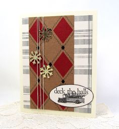 Christmas Card  Deck the Halls  Rustic by PrettyByrdDesigns