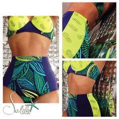 """""""Pine Breeze"""" from the """"Salty Dreams"""" collection #swimwear #salitregirls #salitre_swimwear #saltydreams_bysalitre #beach #palms ##blue #girls #green #pineapple"""