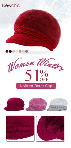 36953df1b24 Women s Knitted Woolen Stripe Beret Cap Elegant Ladies Hats Fashionable Comfortable  Caps  hats  wool