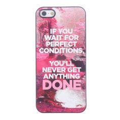 Bracevor Quotes Design Aluminium PC back case for iPhone 5 5s - Things