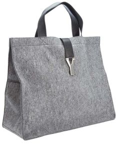 Yves Saint Laurent grey Shopper style bag 2