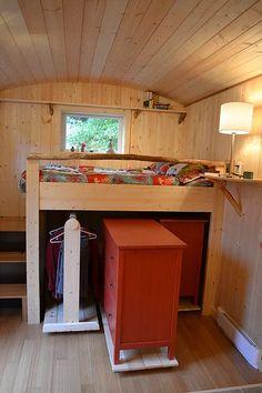 Tiny house closet.