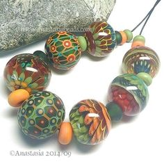 ANASTASIA-handmade-lampwork-beads-7-FALL-FLOWERS-SRA http://www.ebay.com/itm/262051809402?ssPageName=STRK:MESELX:IT&_trksid=p3984.m1555.l2649