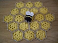 "Betty the Bumble Bee Security Blankie / Lovey This pattern is written over 6 A4 Pages, includes 12 colour pictures and has a ""Making Up"" Section with diagrams.You would need to know how to do the following (Click to see a How-to Video)[Slip Knot][1] [Chain Stitch][2] [Single Crochet][3] [Double Crochet][5] [Slip Stitch][7] [Magic Circle][8] [Work in Continuous Rounds][9] [Work in the Round][10] [Increase][11] [Decrease][12][See the whole ""Learn to Crochet Video Series][16]Materials ..."