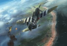 P-47 Thunderbolt During D-Day
