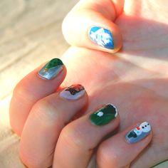 J'ai tenté d'imiter @pshiiit_polish avec ce Nail'Art de Noël ! #nailart #manucure