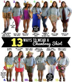 13 ways to wear a chambray shirt