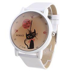 Reloj Pulsera de Mujer con Gato de Correa Blanca A139 – EUR € 4.59
