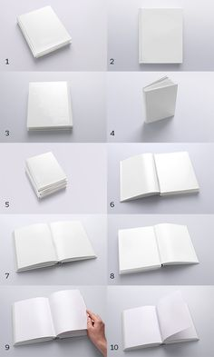 Book Mockups / 10 Different Images by Aleksander GrafAS, via Behance