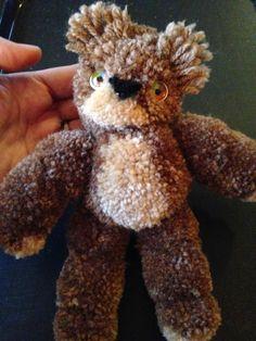 FREE TUTORIAL at Sugarplum Village Blog: Pom Pom Teddy Bear by Deanne Crim