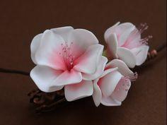 Мастер класс: Цветок из полимерной глины - YouTube