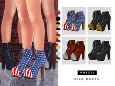 Sims 4 CC's - The Best: Shoes by Phixil Sims