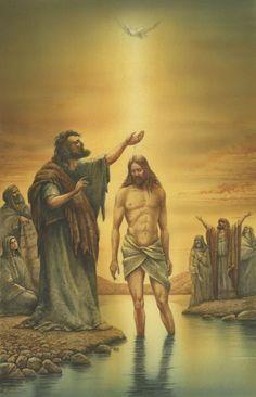 Baptism of Jesus by John the Baptist ~ artist Val Bochkov
