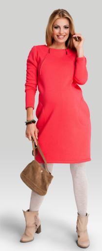 Salsa coral теплое хлопковое платье для беременных и кормящих