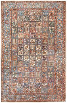 Antique Persian Bakhtiari Carpet 50124