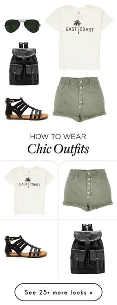 """""""Look of the Day #129!"""" by designer01kitty on Polyvore featuring Billabong, River Island, Ray-Ban, natural, lookoftheday and eastcoast"""
