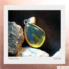 Today Only! 15% OFF this item. Follow us on Pinterest to be the first to see our exciting Daily Deals.  Today's Product: Sale -  Dominican Crystal Clear Blue Amber Sterling Silver 925 Pendant Fossilized Green Terdrop Boho genuine Caribbean Atlantis OOAK.  Buy now: https://orangetwig.com/shops/AABCLyV/campaigns/AACI4eY?cb=2016003&sn=MyBeachStore&ch=pin&crid=AACI4eG&..