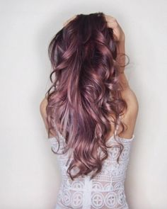 Beautiful Hair Color Inspiration 50 Rose Gold Hair Ideas - Beauty of Wedding Ombre Hair, Lilac Hair, Lavender Hair, Rose Gold Brown Hair, Rose Gold Hair Brunette, Ombre Rose, Lavender Brown, Green Hair, Silver Hair