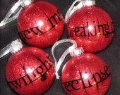 Twilight Set of 4 Christmas ornaments!  Unique!
