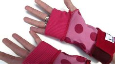 Pixie Wear ARM WARMERS   Pink Dotty by #scrapunzel on #etsy, $17.00