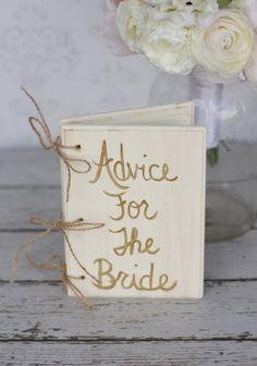 Bridal Shower Guest Book Gold Shabby Chic Wedding Decor (item P10616)