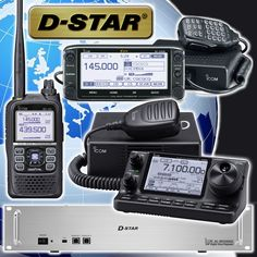 Some of our D-STAR radios. For more details about D-STAR go to: http://www.d-staruk.co.uk #icom #dstar