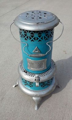 Antique Turquoise Blue Enameled Perfection Oil Heater RARE Model 1630 #Perfection: