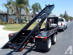 for sale, roll off trailer can pick up, haul & dump & long bins. Americanlisted has classifieds in Bakersfield, California for new and used Trailers and Mobile homes. Log Trailer, Trailer Plans, Trailer Build, Utility Trailer, Trailer Hitch, Flatbed Truck Beds, Tow Truck, Big Trucks, Flatbed Trailer