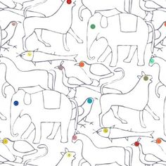 The Animals wallpaper 182x280 cm - 2 strips Multicolored Well Done