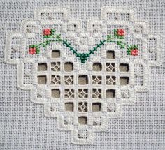 Hardanger embroidery.