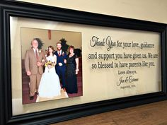 Wedding Gifts for Parents Wedding Gift Ideas by TheBindingTie