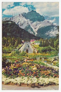 Postcards - Canada # 87 - Banff and Cascade Mountain, Alberta