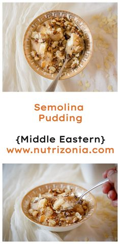 Semolina pudding is a popular dessert in Arabic cuisine. It's comforting, creamy, and of course delicious. Semolina Pudding, Rich Recipe, Halal Recipes, Eastern Cuisine, Warm Food, Most Popular Recipes, Middle Eastern Recipes, Savoury Dishes, How To Make Bread