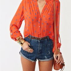 Flowy top and cute shorts