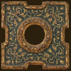 Spanish 17th Century - 4″d x 3″ 17Th C Antique Picture Frames, Old Frames, Antique Frames, Vintage Frames, Victorian Frame, Art Nouveau Tiles, Victorian Style Homes, Stuck, Found Object Art