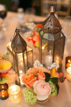 Bold and Beautiful Floral Wedding Ideas by The Vine's Leaf - wedding centerpiece idea; Chris + Jenn Photos
