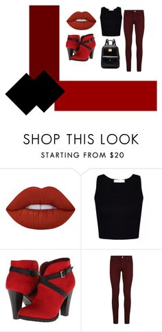 """Sem título #675"" by leonettaforever-872 ❤ liked on Polyvore featuring Lime Crime, 2 Lips Too and Paige Denim"