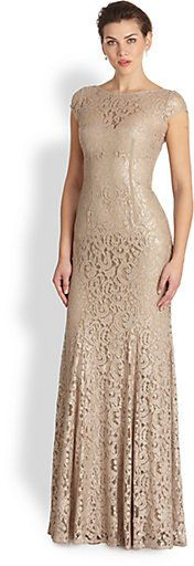 ML Monique Lhuillier black lace beaded waist tiered skirt dress ...